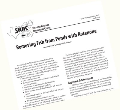 Using Rotenone To Renovate Fish Populations In Farm Ponds