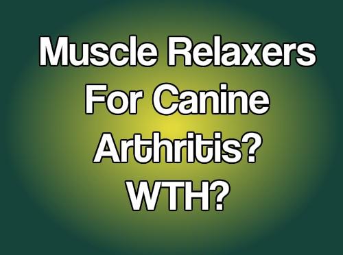 Methocarbamol for HIP Arthritis? Whaaaaaaat?